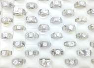 Men's CZ & White Gold Plated Rings