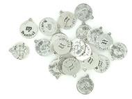 Zinc Alloy Zodiac Charms - 50 Piece