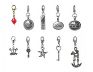 50 Piece Mix Floating Clip On Charm Assortment
