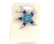 Wholesale Crystal Starfish Pin