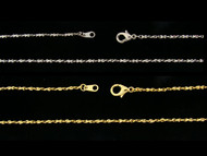 Twisted Nugget Chain by the Gross - 2MM wide - 20 Inches Long