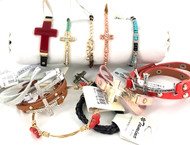 Wholesale 24 Piece Cross Bracelet Lot