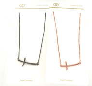 Wholesale Sideways Cross Necklace