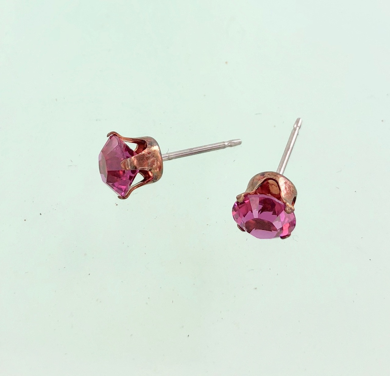fcd7fc5ae Closeout Rose Gold and Crystal Stud Earrings