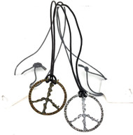 Wholesale Crystallized Peace Sign Necklaces