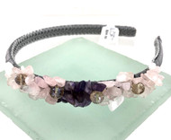 Closeout LOFT Amethyst and Rose Quartz Headbands