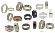 Closeout Stainless Steel Ring Lot - 100 Piece