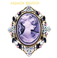 Closeout Cameo Brooch