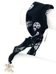 Wholesale Scarf Bracelet - Skulls and Crowns