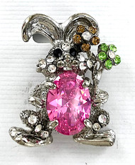 Wholesale Pastel Bunny with Crystal Egg Pin