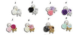 Deco 3D Nail Art - Crystal /Bow/ Flower/ Pearl Cluster