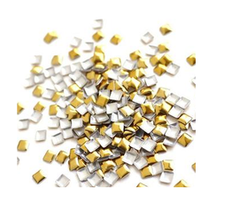 Gold Square studs - 3mm x 3mm
