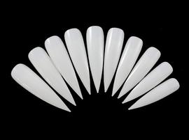 White Stiletto Tips (10)