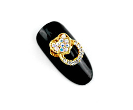 3d Gold Heart & Moving Ring