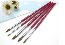 5 Pack Nail Art Brushes (Round)