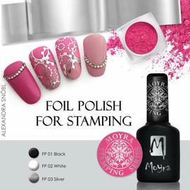 Moyra Foil polish for stamping  - Black