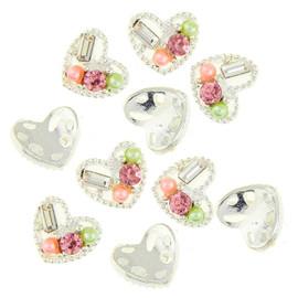 3d Cluster Heart - Multicolour stones