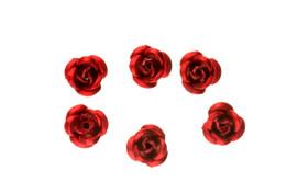3d Metallic Flowers - Red