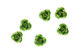 3d Metallic Flowers - Green