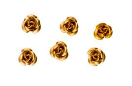 3d Metallic Flowers - Gold