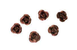 3d Metallic Flowers - Brown