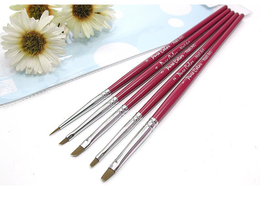 5 Pack Nail Art Brushes (Flat)