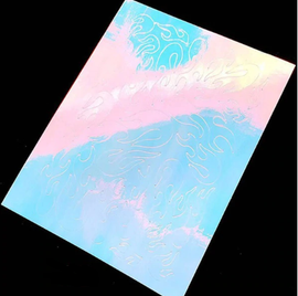 Flame Nail Decal - Aurora White 2