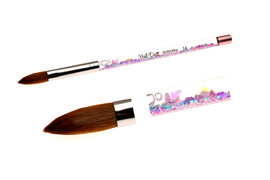 Nail Deco Kolinsky Glitter  Brush (Oval) #14