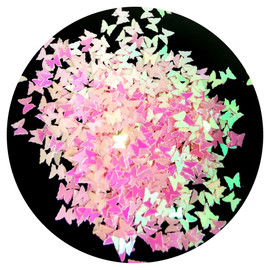 NC - Light Pink Pearlescent Butterflies