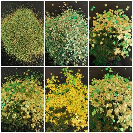 NC - Chameleon Glitter -  Lime Green/Gold