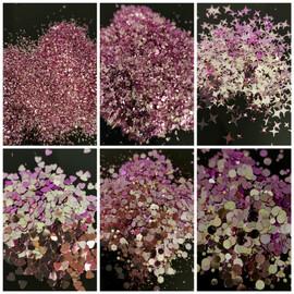 NC - Chameleon Glitter -  Purple/Champange