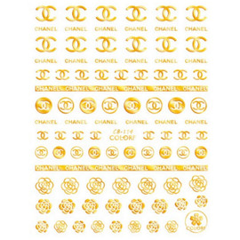 CC Gold Nail Decals
