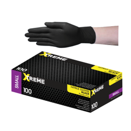 Black Nitrile Gloves (100) - Small