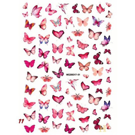 Pink Butterfly Decals