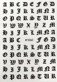 Old English - Black Decal