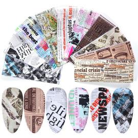 Nail Foil Kit - Newspaper