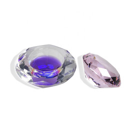 Crystal Dappen Dish - Pink (Octagonal)