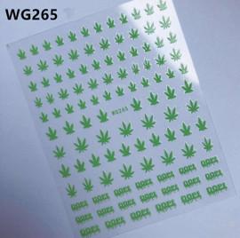 Neon Green Hemp Decals - WG265