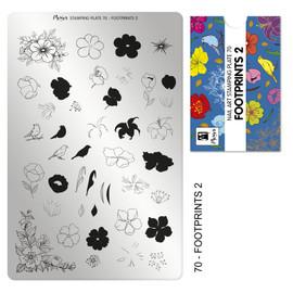 Moyra Foot Prints 2 Stamping Plate No.70