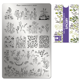 Moyra Spicery Stamping Plate No.91