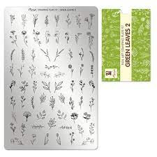 Moyra Green leves 2 Stamping Plate No.97