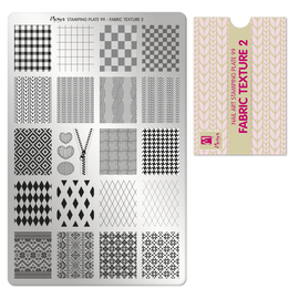 Moyra Fabric texture 2 Stamping Plate No.99