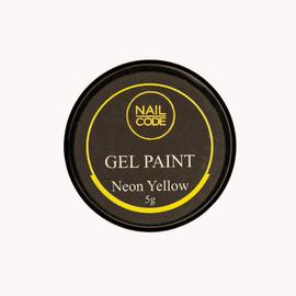 Nail Code Gel Paints - Neon Yellow