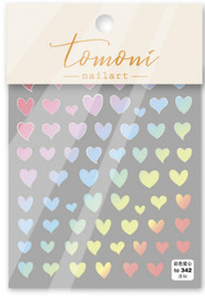Ombre heart Decals - T342
