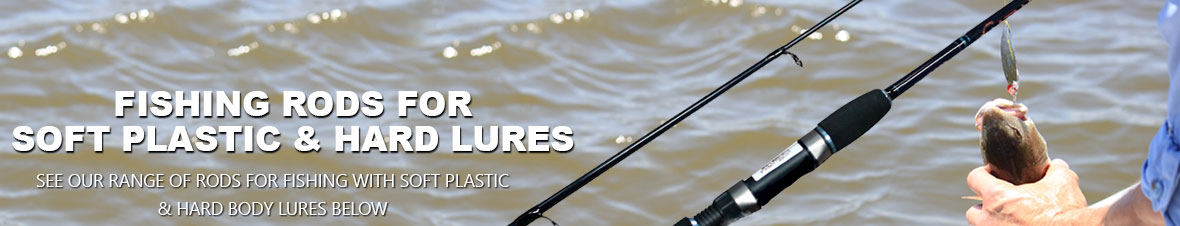 Soft plastic rods and hard body lure rods fishing tackle for Hard and soft fishing