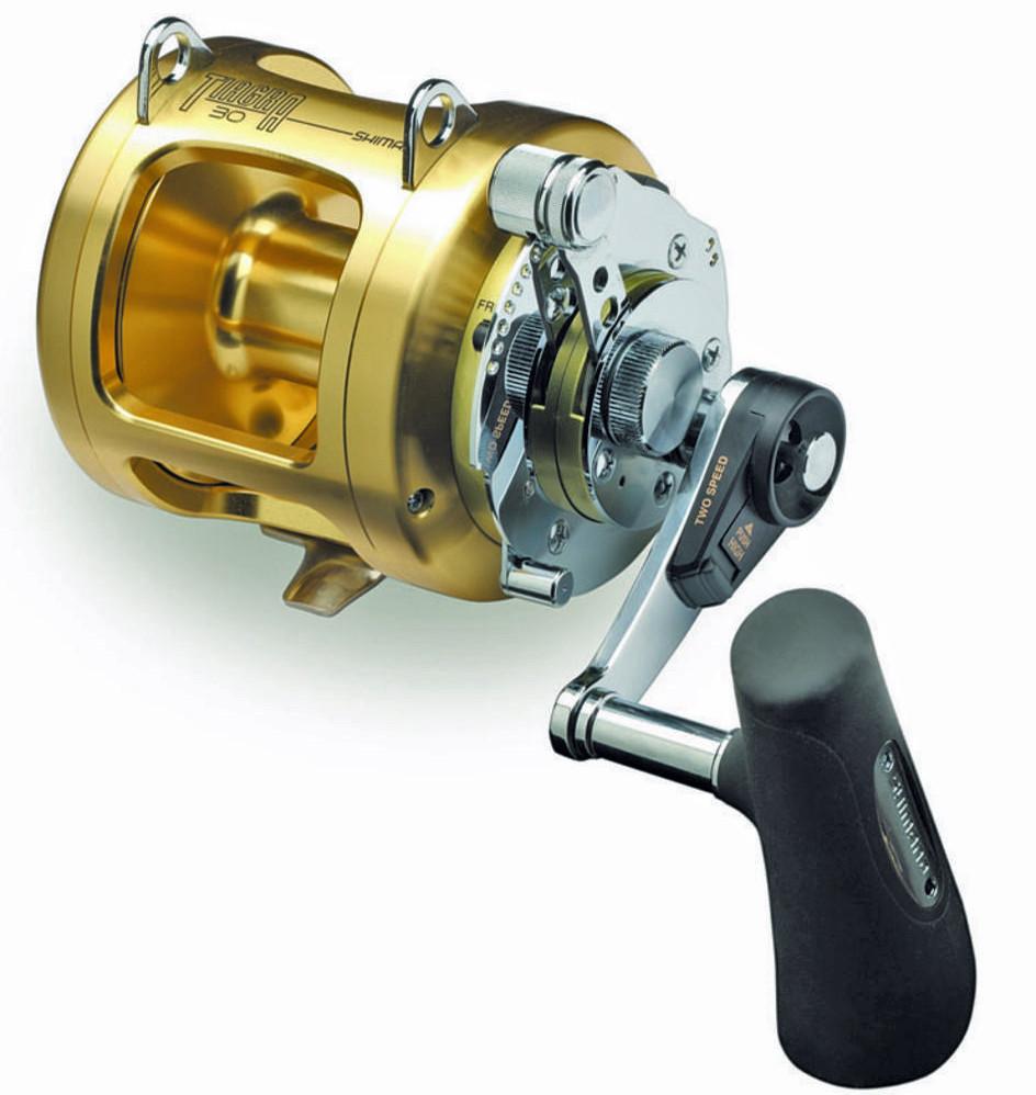 Shimano tiagra fishing reel ti 30 a 2 speed game reel for Reel fishing game