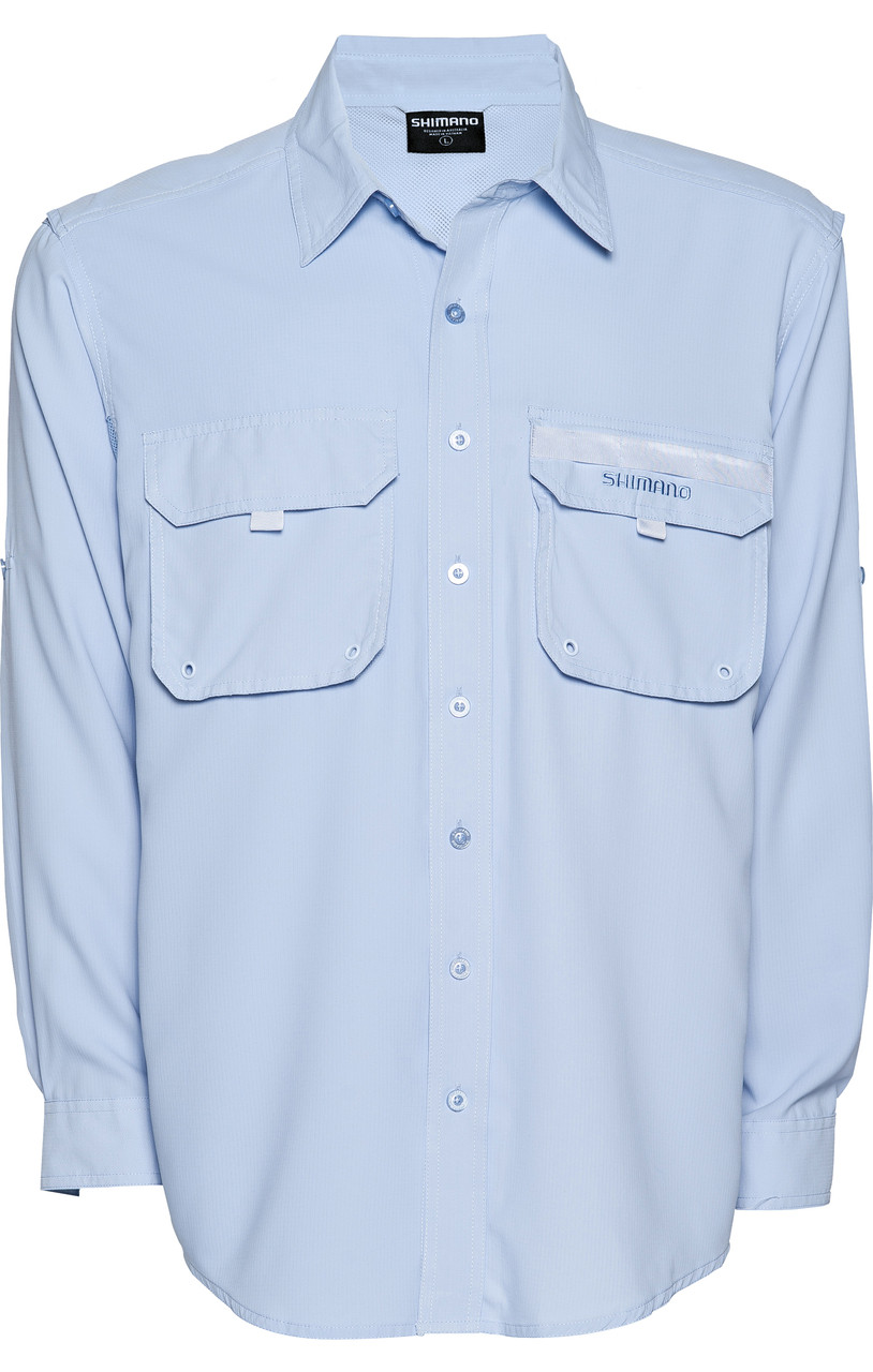 Shimano vented shirt blue long sleeve fishing shirts for for Fishing shirts on sale