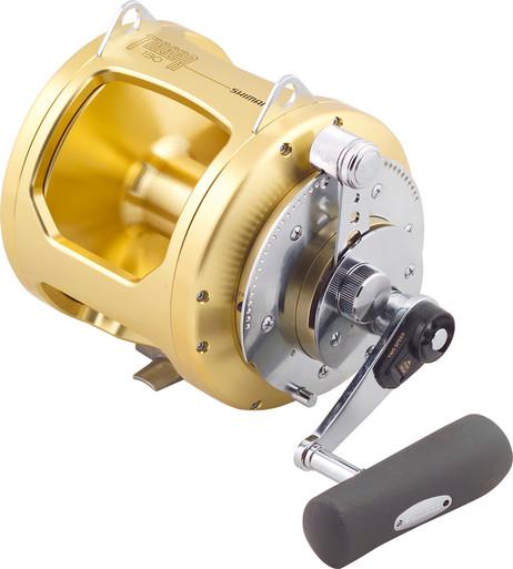 Shimano tiagra fishing reel 130a 2 speed game reel for Reel fishing game