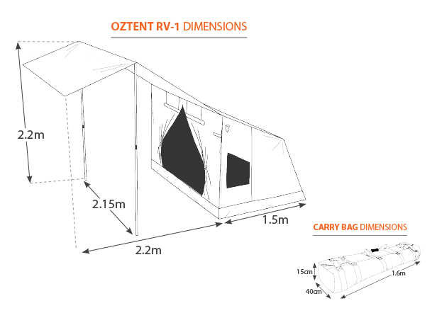 OZRV1d  sc 1 st  Fishing Tackle Shop & Oztent RV-1 Oz tent 30 second tent - Fishing Tackle Shop