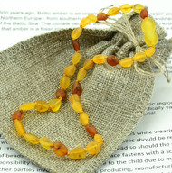 raw amber teething necklace,